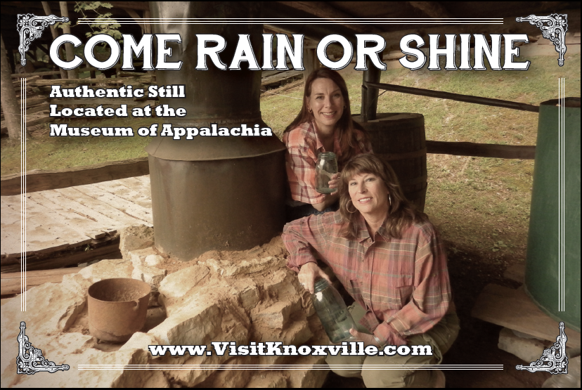 "KCC Director of Sales Rebecca Williams and Visit Knoxville Director of Sales Jennifer Morris went in ""shining"" fashion to sell Knoxville at Connect Marketplace using these great postcards."